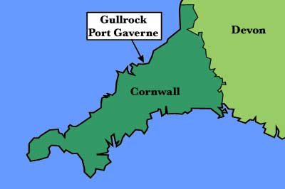 Location Map of Gullrock, Port Gaverne, Port Isaac, Cornwall